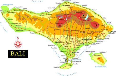 Bali tourism board about bali bali map click on the city to open detailed map you can download all these maps and print bali cities map gumiabroncs Choice Image