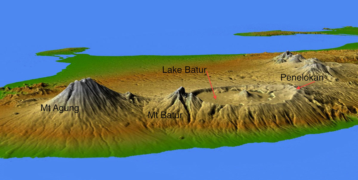 Bali Tourism Board About Bali Bali Topography - 3d topographical map of us