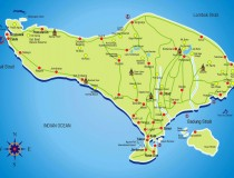 bali cities map