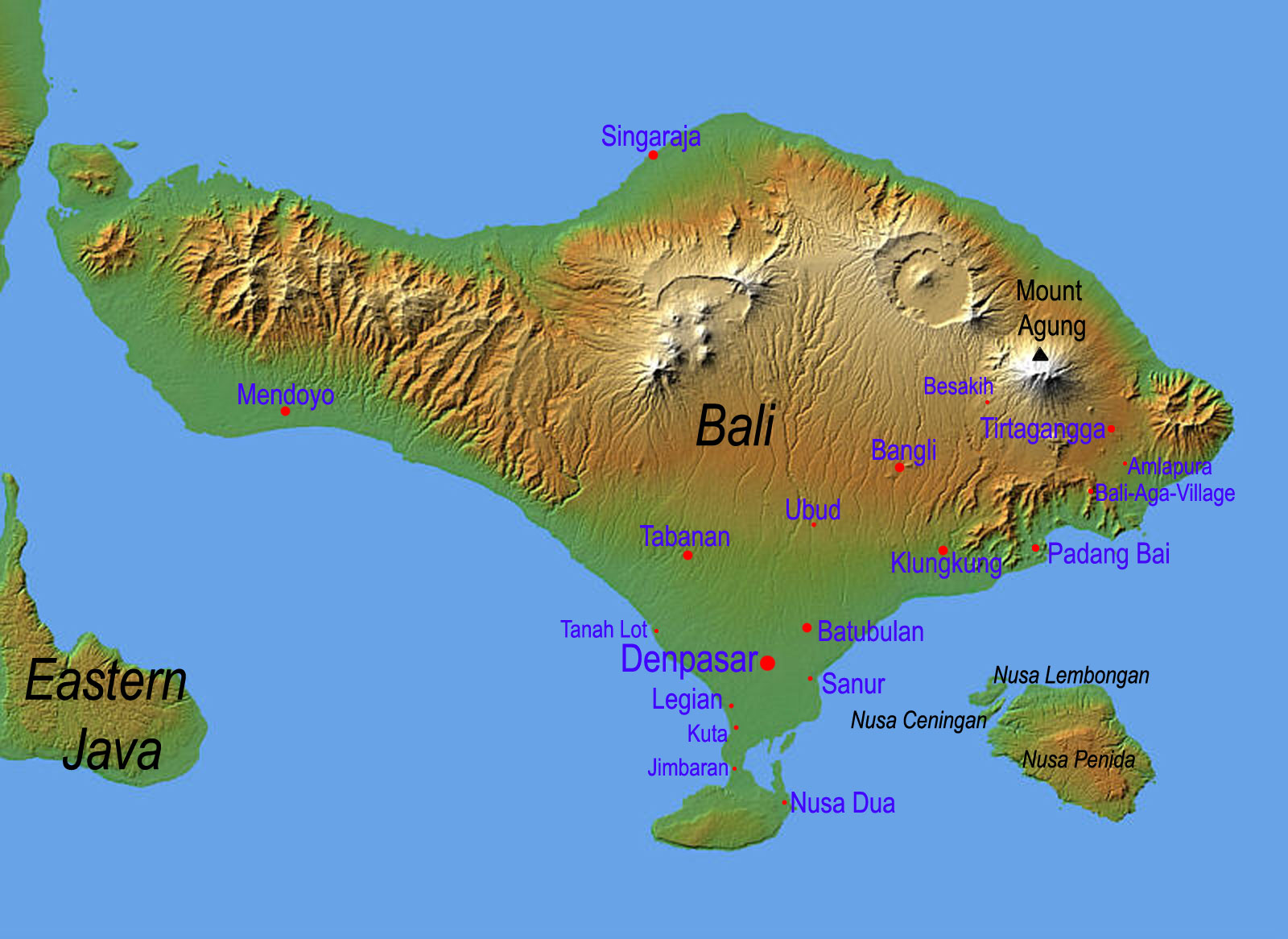 Bali tourism board about bali bali geography bali geography map gumiabroncs Images