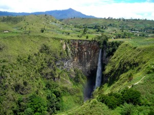 Sipiso-Piso waterfall, North Sumatra