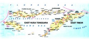 East Nusa Tenggara map