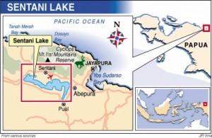 sentani lake map